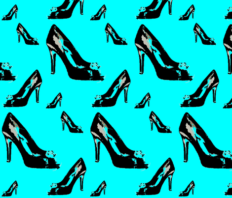 Shoes2 in Tiffany Blue fabric by stickelberry on Spoonflower - custom fabric