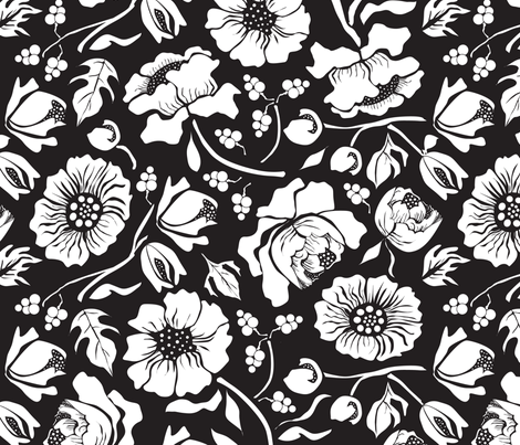 BLACK RUSSIAN fabric by mag-o on Spoonflower - custom fabric