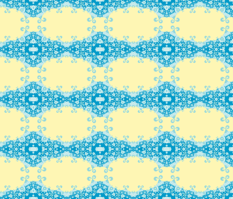 Tropical Sunny Day on Planet Whatchamacallit fabric by clotilda_warhammer on Spoonflower - custom fabric