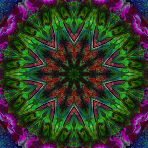 Green and Purple  Abstract tile17