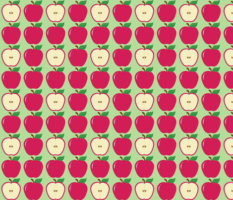 Red Apples fabric by jjtrends on Spoonflower - custom fabric