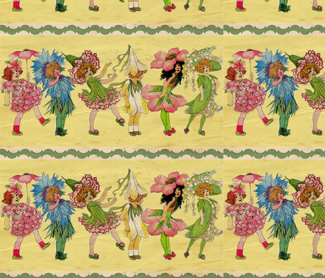Victorian Flower Fairies fabric by marchhare on Spoonflower - custom fabric
