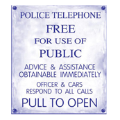 Police Phone Box Sign 2