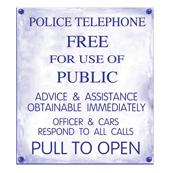 Police Phone Box Sign 2