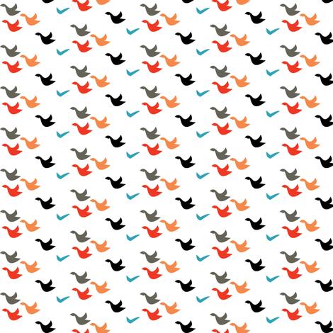 flock fabric by lilbirdfly on Spoonflower - custom fabric