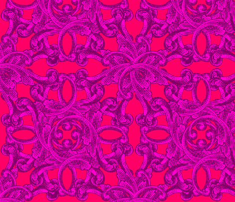 Baroque, Hot (Large) fabric by lavaguy on Spoonflower - custom fabric