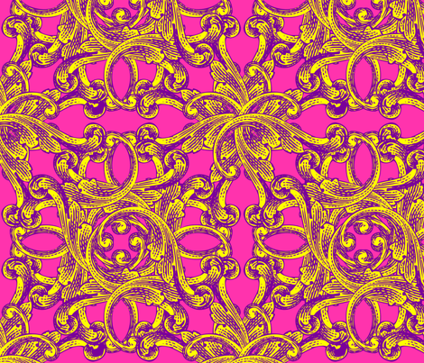 Baroque - Fancy (Large) fabric by lavaguy on Spoonflower - custom fabric