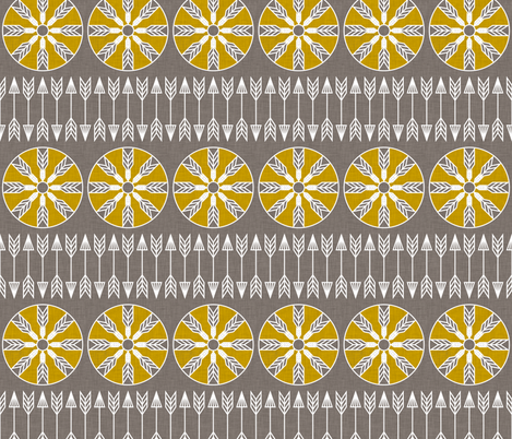 sun_and_arrow fabric by holli_zollinger on Spoonflower - custom fabric