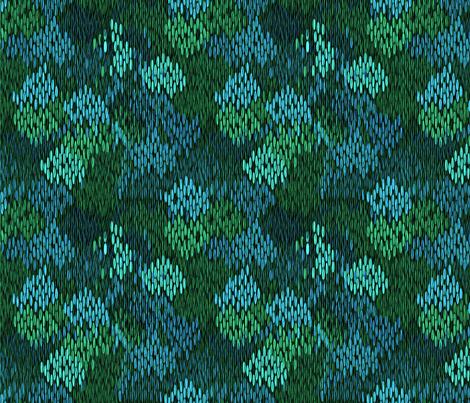 stitch_works water garden fabric by glimmericks on Spoonflower - custom fabric