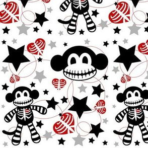 Skeleton Monkey Confetti