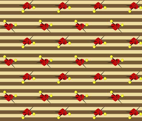 Pins n Needles Hearts n Stripes fabric by pumpkinbones on Spoonflower - custom fabric