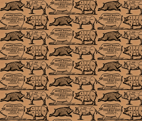 These Little Piggies fabric by marchhare on Spoonflower - custom fabric