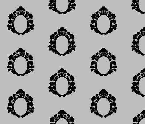 angelframe_gray fabric by morrigoon on Spoonflower - custom fabric
