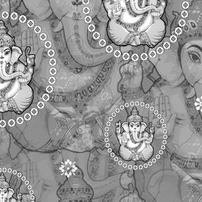 Big Grey Bejewelled Ganesh