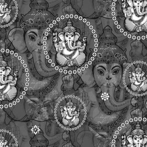 Big Mono Bejewelled Ganesh