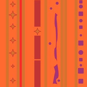 Bright Autumn Stripe with pattern  © Gingezel™ 2012