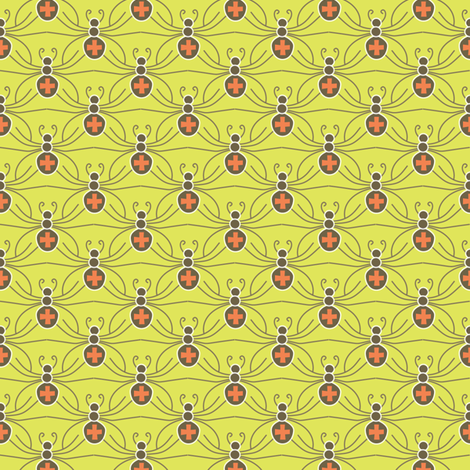 A Web of Black Widows - neon fabric by kayajoy on Spoonflower - custom fabric