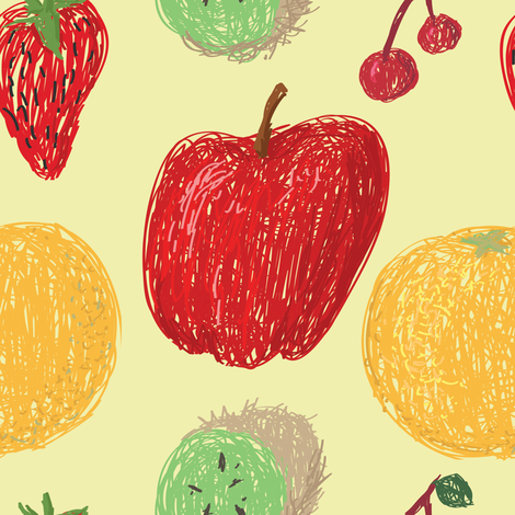 Fruit Pattern fabric by starsania on Spoonflower - custom fabric