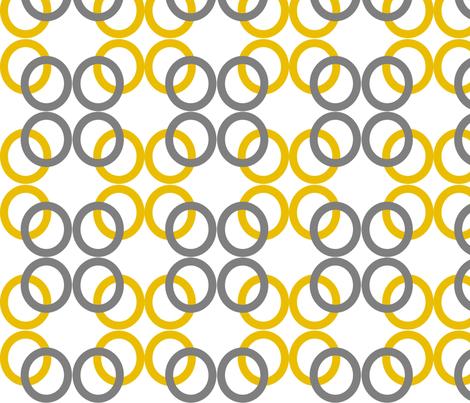 Mustard_Gray_Circles fabric by reganraff on Spoonflower - custom fabric