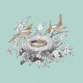 La Petite Famille (small)  spoonflower_wallpaper