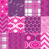 Hot Pink and Royal Purple Cheater Print