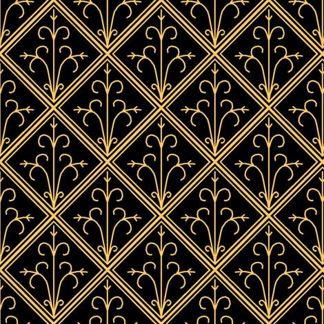 Tiled Gold fabric by pond_ripple on Spoonflower - custom fabric