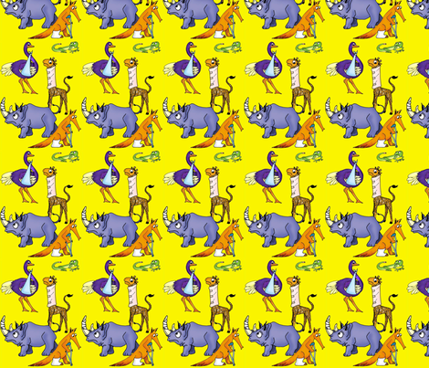 Animal BooBoos fabric by lfreud on Spoonflower - custom fabric