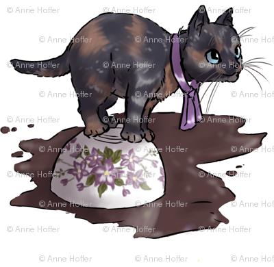 Kitten Tea Party, Spilled Cup