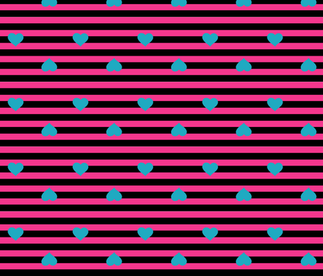 Hearts and Stripes fabric by pumpkinbones on Spoonflower - custom fabric