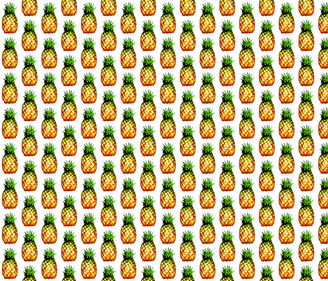 field of pineapples fabric by spontaneouscombustion on Spoonflower - custom fabric