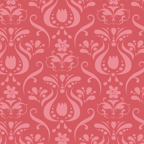 Damask in Cranberry