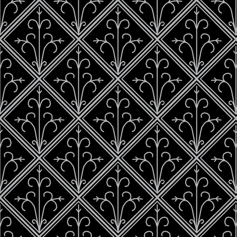 Tiled Silver fabric by pond_ripple on Spoonflower - custom fabric