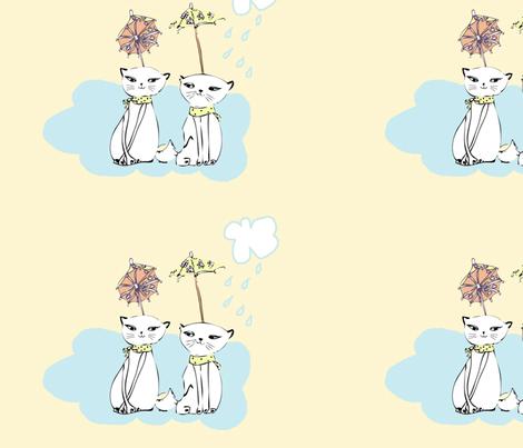 WALLPAPER: cat shakers fabric by hotdogjenny on Spoonflower - custom fabric