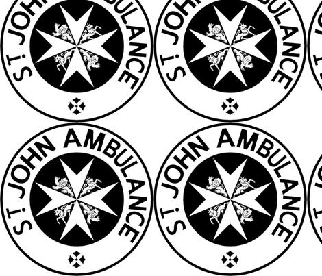 Matt Smith St Johns Ambulance Logo Variant  fabric by warmcanofcoke on Spoonflower - custom fabric