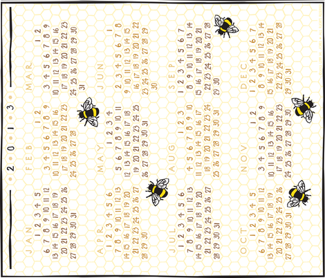 may-bee_next_year_2013H fabric by lynnerd on Spoonflower - custom fabric