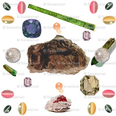 Vintage Printable -Translucent gems and minerals
