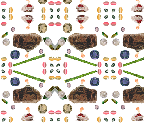 Vintage Printable -Translucent gems and minerals fabric by swivelchair on Spoonflower - custom fabric