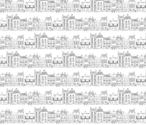 Down Our Street - small scale fabric by woodledoo on Spoonflower - custom fabric