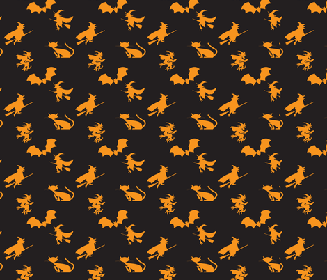 Halloween Pattern fabric by lesrubadesigns on Spoonflower - custom fabric