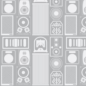 Speakers (Gray & White)