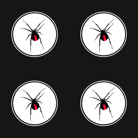 Redback Spider on Black fabric by little_fish on Spoonflower - custom fabric
