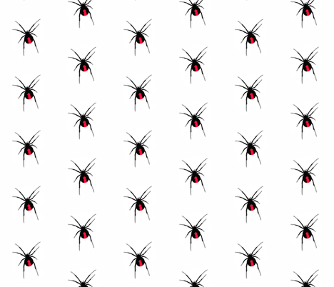 Redback Spider on White fabric by little_fish on Spoonflower - custom fabric