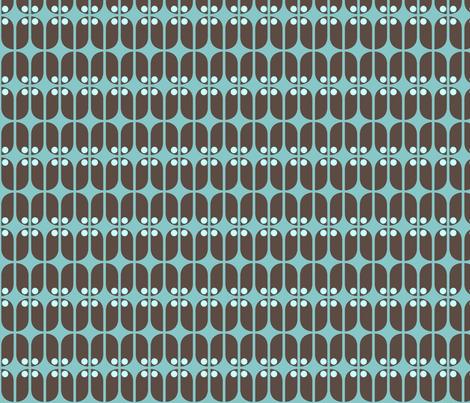 Mod Teal Turk fabric by brainsarepretty on Spoonflower - custom fabric