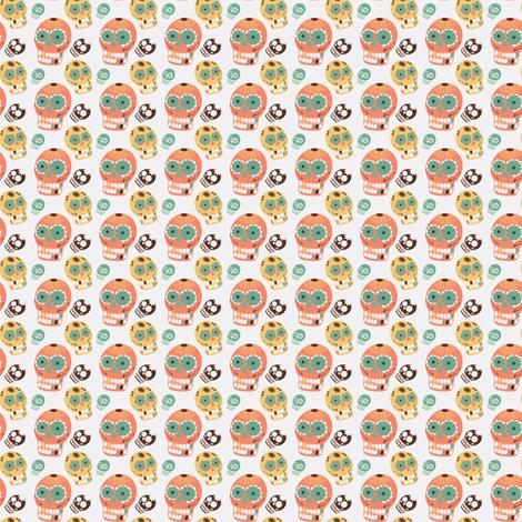 Pastel Sugar Skulls-ch fabric by babyloafs on Spoonflower - custom fabric