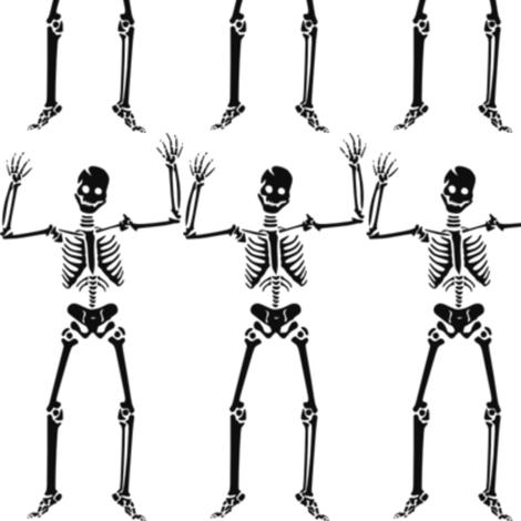 Dancing Skeleton  fabric by dreamskyart on Spoonflower - custom fabric