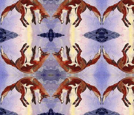 Lightning's Hour Fox fabric by featheralchemist on Spoonflower - custom fabric