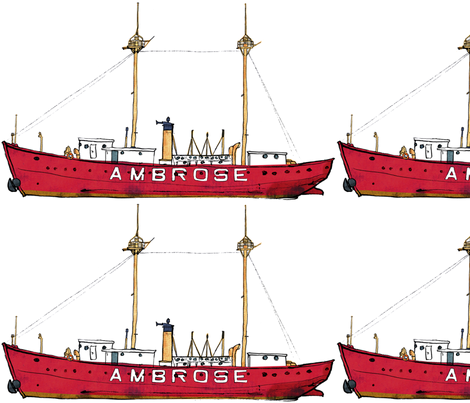 lightship ambrose fabric by bowsprite on Spoonflower - custom fabric