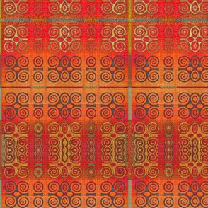 Ikat Adinkra in Orange -- small