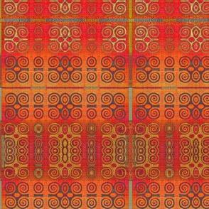Ikat Adinkra in Orange -- small