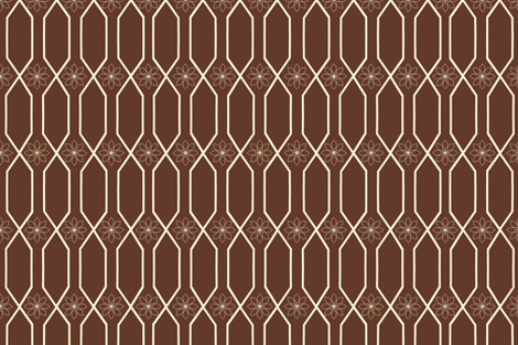 brown_trellis_ fabric by bexcaliber on Spoonflower - custom fabric